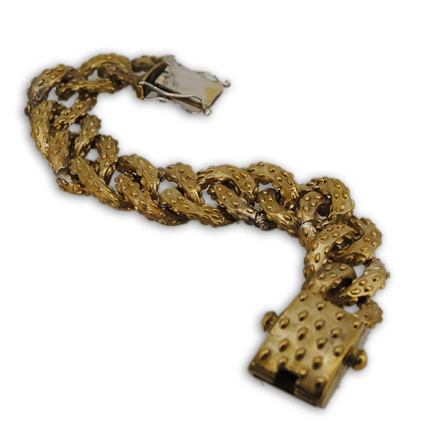 bracciale mandorlato in bronzo