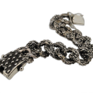 bracciale mandorlato in argento