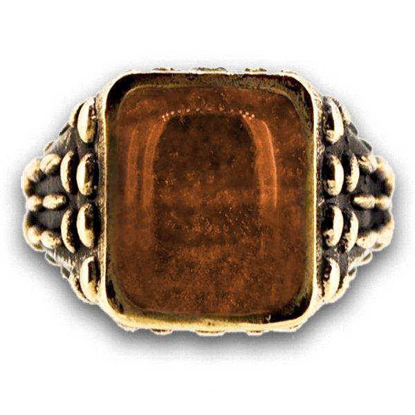 anello pietra cristallo di rocca mandorlato