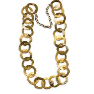 mattana design collana laminata cerchi in bronzo