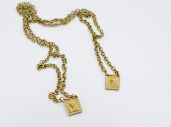 collana bronzo scapolare napoletano