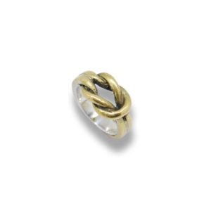 anello-nodo-bronzo-argento