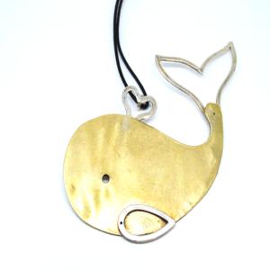 pendente balena bronzo argento