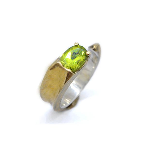 anello-bimetal-peridoto-naturale