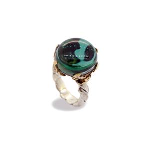 anello quarzo idrotermale verde