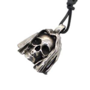 anello artigianale napoli-ciondolo teschio sudario argento