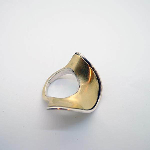 mattana design anello drappo onda