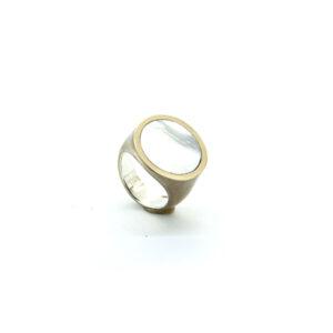 mattana design chevalet bronzo anello tondo xlarge