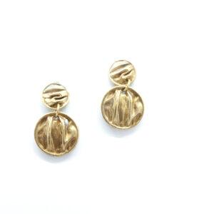 mattana design orecchini drappo bronzo tondi