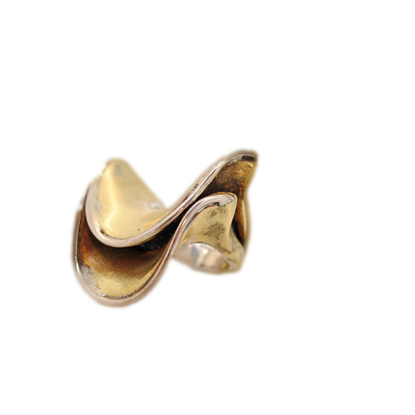 anello artigianale drappo bronzo napoli