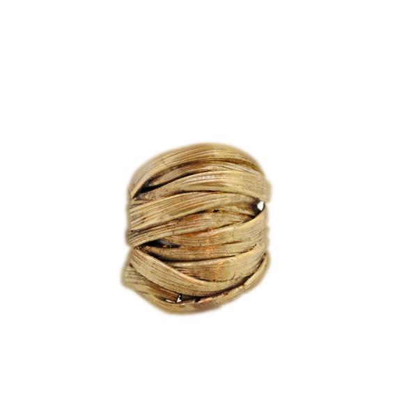 anello artigianale fasciato-bronzo napoli