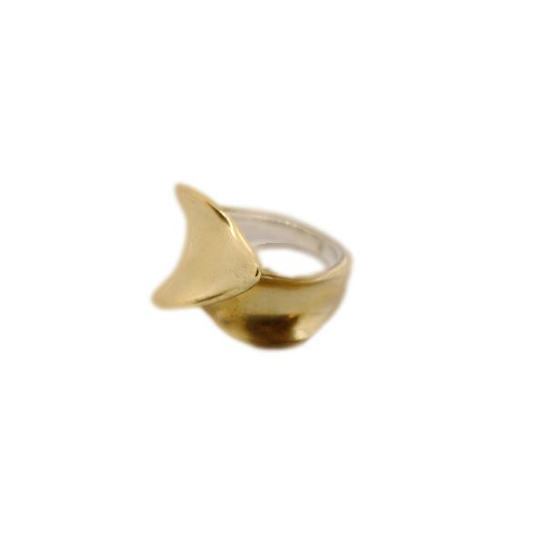 anello-artigianale flusso bronzo napoli