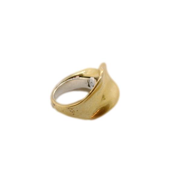 anello artigianale flusso bronzo napoli