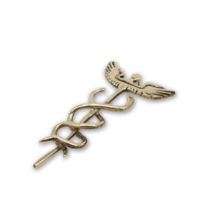 mattana design ciondolo caduceo alato bronzo